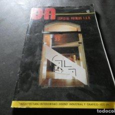 Libros antiguos: REVISTA DE ARQUITECTURA Y DISEÑO ON NUMERO 43 PESA 350 GRAMOS. Lote 169442124