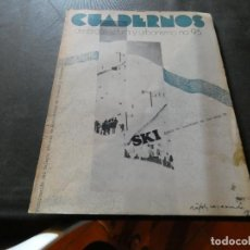 Libros antiguos: REVISTA CUADRNOS DE ARQUITECTURA Y URBANISMO NUM 95 PESA 300 GRAMOS. Lote 169632092