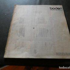 Libros antiguos: BODEN REVISTA ARQUITECTURA OCHO ARQUITECTOS ABRIL 76 300 GRAMOS. Lote 169633180