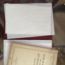 Libros antiguos: EL PLA DE DISTRIBUCIÓ EN ZONES DEL TERRITORI CATALÀ - 1932 – URBANISMO Y ARQUITECTURA - RUBIÓ TUDURÍ. Lote 169959076