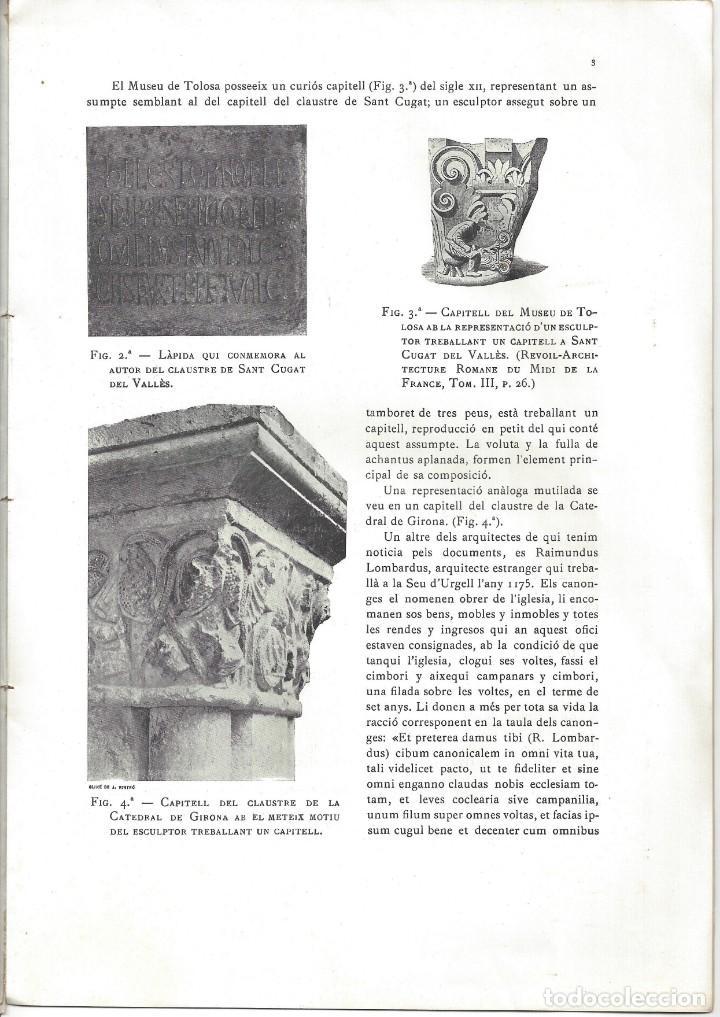 Libros antiguos: ELS CONSTRUCTORS DE LES OBRES ROMÀNIQUES A CATALUNYA. ANTONI DE FALGUERA. BARCELONA- 1907 - Foto 4 - 170004152