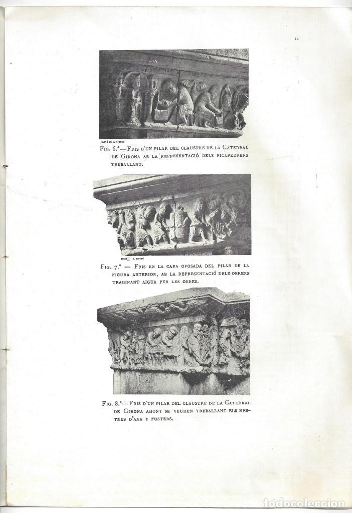 Libros antiguos: ELS CONSTRUCTORS DE LES OBRES ROMÀNIQUES A CATALUNYA. ANTONI DE FALGUERA. BARCELONA- 1907 - Foto 7 - 170004152
