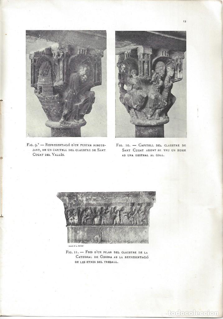Libros antiguos: ELS CONSTRUCTORS DE LES OBRES ROMÀNIQUES A CATALUNYA. ANTONI DE FALGUERA. BARCELONA- 1907 - Foto 8 - 170004152