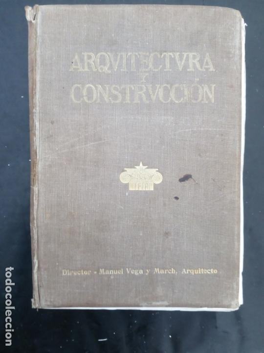 Libros antiguos: Arquitectura y Construcción 1920-1921 Vega y March - Foto 2 - 170530200