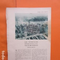 Libros antiguos: AÑO 1929 - TENDENCIAS ARQUITECTURA MODERNA - RASCACIELOS WODWORTH TELEFONICA N.J. FRED FRENCH RITZ . Lote 171264269