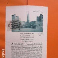 Libros antiguos: AÑO 1929 - TENDENCIAS ARQUITECTURA MODERNA - KLERK SALVISDERO EFFENBERGER BRUNO TAUT BERLIN ROECKLE . Lote 171264579