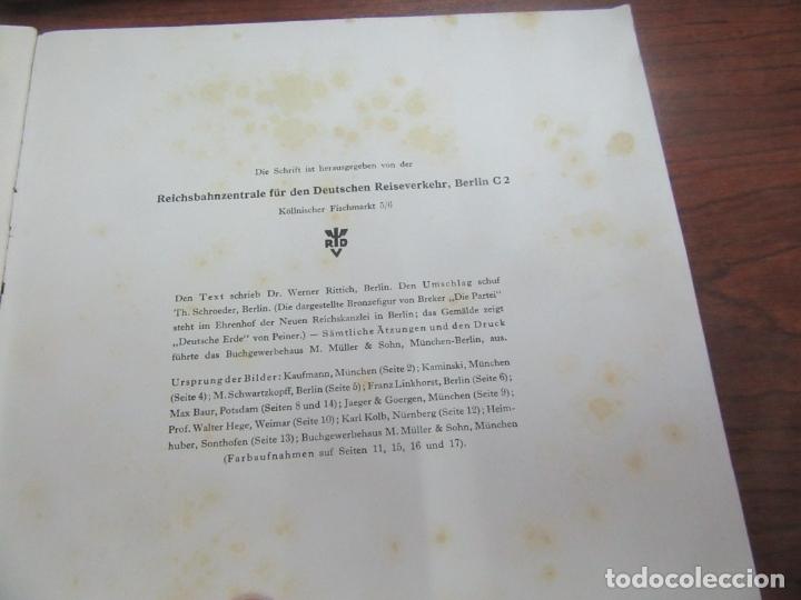 Libros antiguos: Libro en alemán sobre la escultura, arquitectura y pintura nazi. 1933. L4364-463. - Foto 5 - 173393704
