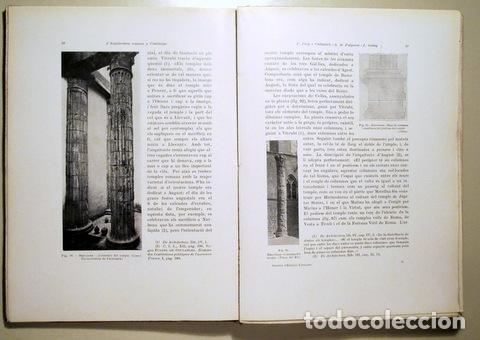 Libros antiguos: PUIG I CADAFALCH, J. - L'ARQUITECTURA ROMANA A CATALUNYA - Barcelona 1934 - Il·lustrat - Foto 2 - 173629232