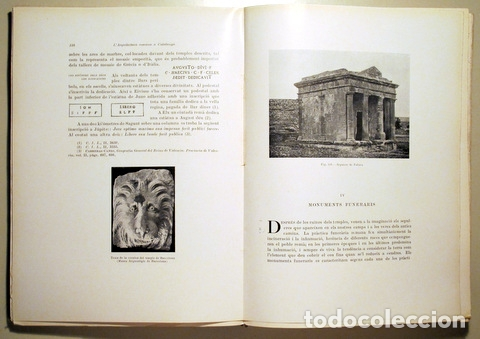 Libros antiguos: PUIG I CADAFALCH, J. - L'ARQUITECTURA ROMANA A CATALUNYA - Barcelona 1934 - Il·lustrat - Foto 4 - 173629232