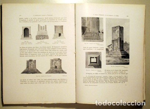 Libros antiguos: PUIG I CADAFALCH, J. - L'ARQUITECTURA ROMANA A CATALUNYA - Barcelona 1934 - Il·lustrat - Foto 5 - 173629232