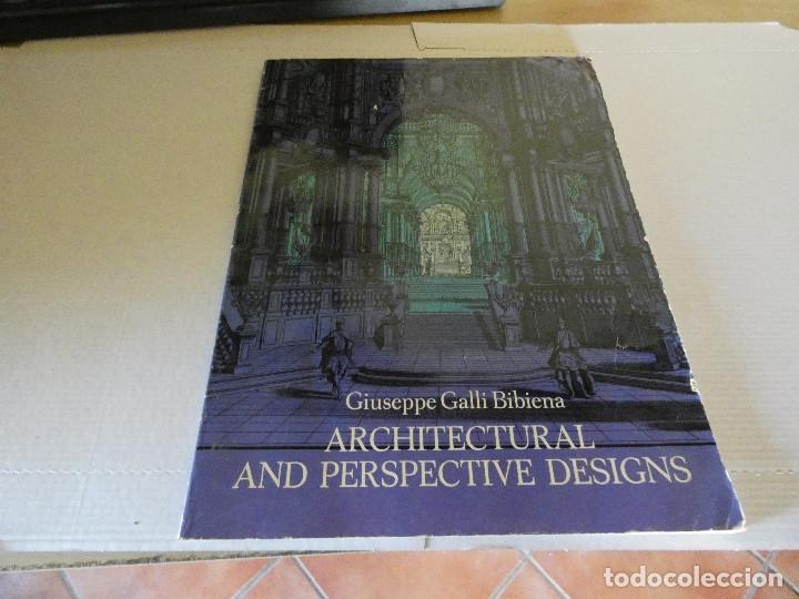 PRECIOSO LIBRO DE ARQUITECTURA GIUSEPPE GALLI ARCHITECTURAL AND PERSPECTIVE DESIGNS 1964 (Libros Antiguos, Raros y Curiosos - Bellas artes, ocio y coleccion - Arquitectura)
