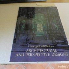 Libros antiguos: PRECIOSO LIBRO DE ARQUITECTURA GIUSEPPE GALLI ARCHITECTURAL AND PERSPECTIVE DESIGNS 1964 . Lote 173958573