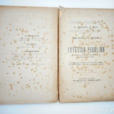 Libros antiguos: L. CABELLO Y ASO TEORÍA ARTÍSTICA DE LA ARQUITECTURA(LIBRO II) ESTÉTICA PECULIAR Y95661 . Lote 174149929
