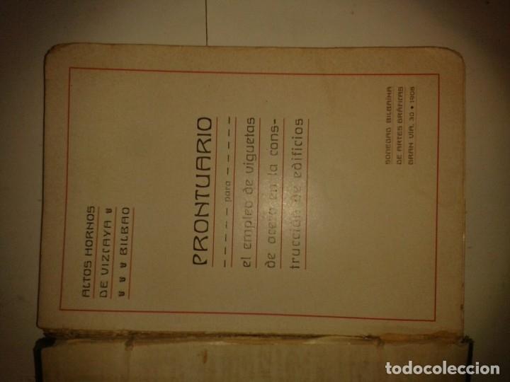 Libros antiguos: PRONTUARIO PARA EL EMPLEO DE VIGUETAS DE ACERO EN LA CONSTRUCCIÓN DE EDIFICIOS 1903 ALTOS HORNOS VIZ - Foto 2 - 174177178