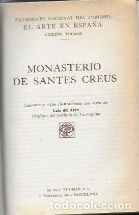 Libros antiguos: El arte en España: Poblet, Santes Creus, Catedral de Barcelona. ( 3 vols. en un tomo ). 15x10 cm. - Foto 3 - 174924160