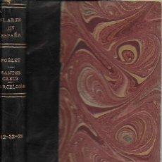 Libros antiguos: EL ARTE EN ESPAÑA: POBLET, SANTES CREUS, CATEDRAL DE BARCELONA. ( 3 VOLS. EN UN TOMO ). 15X10 CM.. Lote 174924160