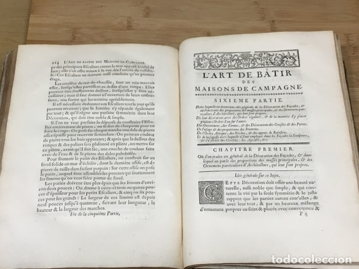 Libros antiguos: L´ART DE BÂTIR DES MAISONS DE CAMPAGNE.SIEUR C.E. BRISEUX, ARCHITECTE. TOME PREMIER. PARIS.1743 - Foto 4 - 176142767