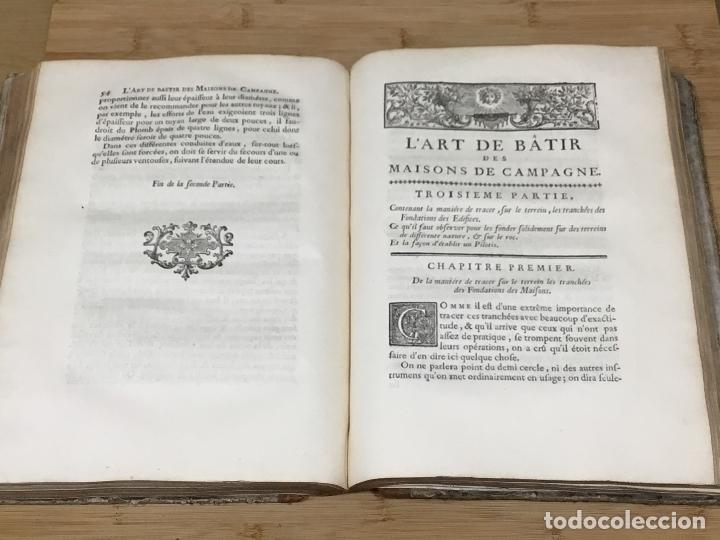 Libros antiguos: L´ART DE BÂTIR DES MAISONS DE CAMPAGNE.SIEUR C.E. BRISEUX, ARCHITECTE. TOME PREMIER. PARIS.1743 - Foto 5 - 176142767