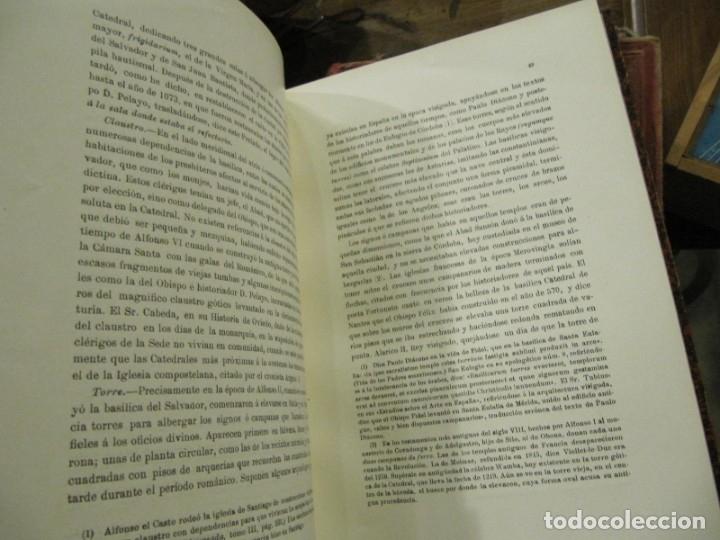 Libros antiguos: MONUMENTOS OVETENSES DEL SIGLO IX POR FORTUNATO DE SELGAS 1.908 - CON DEDICATORIA DEL AUTOR Y FIRMA - Foto 4 - 178217647