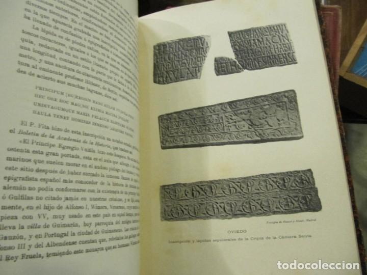 Libros antiguos: MONUMENTOS OVETENSES DEL SIGLO IX POR FORTUNATO DE SELGAS 1.908 - CON DEDICATORIA DEL AUTOR Y FIRMA - Foto 5 - 178217647