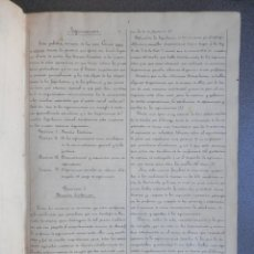 Libros antiguos: RARO LIBRO MANUSCRITO ARQUITECTURA SIGLO XIX. ARQUITECTO MARIANO CALVO. MUCHOS DATOS MADRID. Lote 178389546