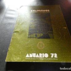 Libros antiguos: CUADERNOS DE ARQUITECTURA Y URBANISMO 91/92 ANUARIO 72 PESA 550 GRAMOS. Lote 178850668