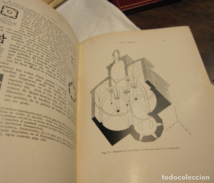 Libros antiguos: PUIG I CADAFALCH. LA SEU VISIGOTICA DEGARA, INSTITUT DESTUDIS CATALANS.BARCELONA, 1936 - Foto 4 - 179089945
