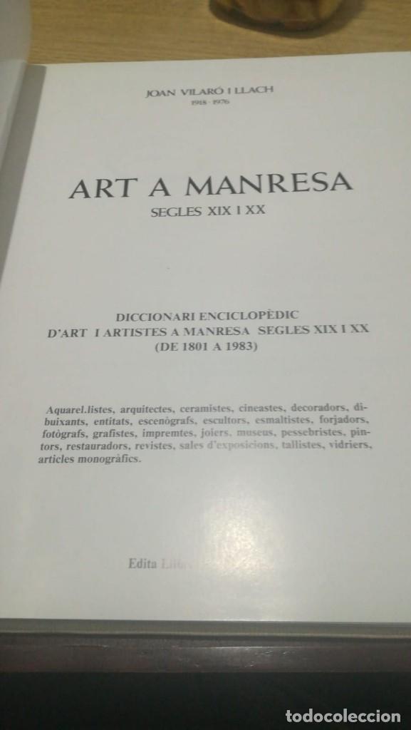 Libros antiguos: Art a Manresa Segles XIX i XX - Foto 4 - 181349045