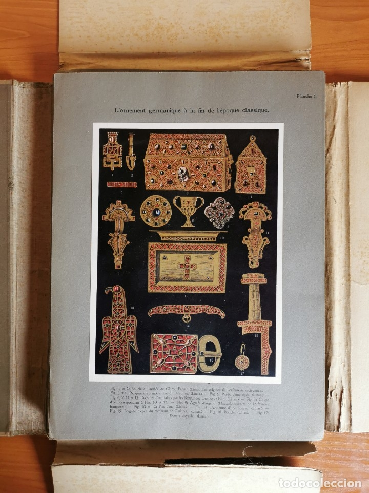 Libros antiguos: 60 LÁMINAS POLICROMADAS ALEXANDER SPELTZ LORNEMENT POLYCHROME MOYEN AGE 1915 LEIPZIG - Foto 4 - 181630186