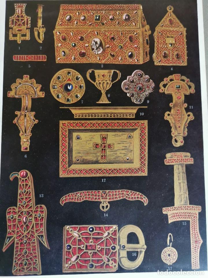 Libros antiguos: 60 LÁMINAS POLICROMADAS ALEXANDER SPELTZ LORNEMENT POLYCHROME MOYEN AGE 1915 LEIPZIG - Foto 5 - 181630186