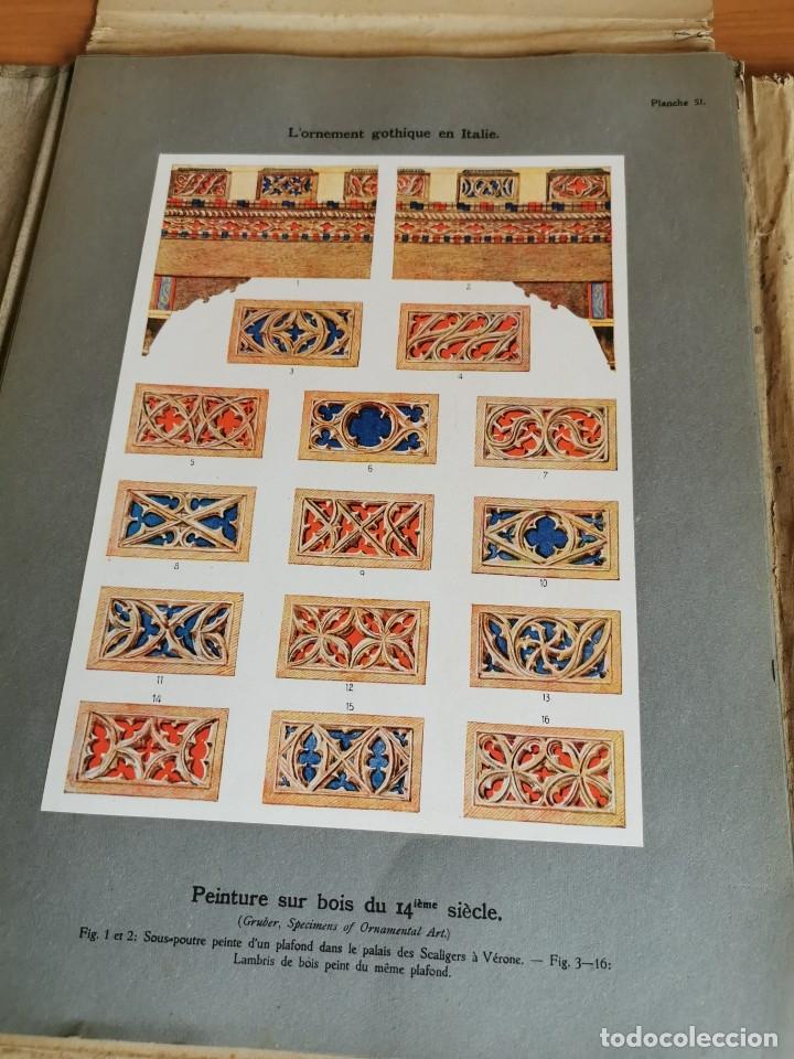 Libros antiguos: 60 LÁMINAS POLICROMADAS ALEXANDER SPELTZ LORNEMENT POLYCHROME MOYEN AGE 1915 LEIPZIG - Foto 26 - 181630186