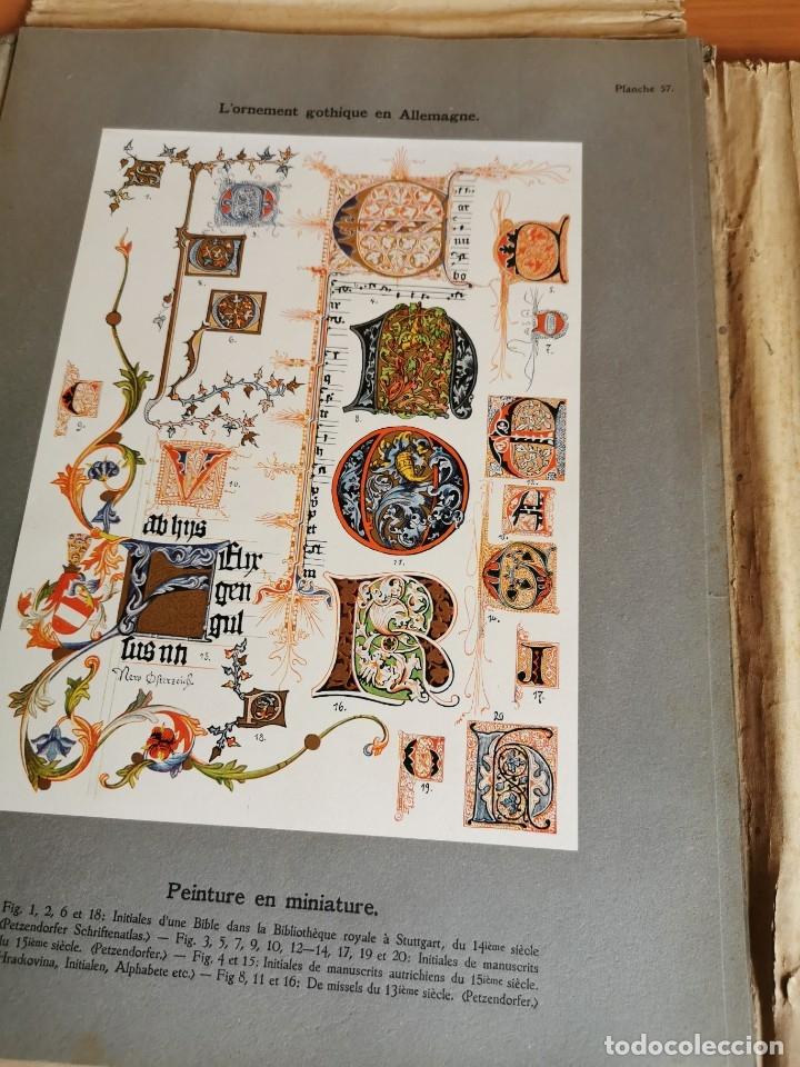 Libros antiguos: 60 LÁMINAS POLICROMADAS ALEXANDER SPELTZ LORNEMENT POLYCHROME MOYEN AGE 1915 LEIPZIG - Foto 28 - 181630186