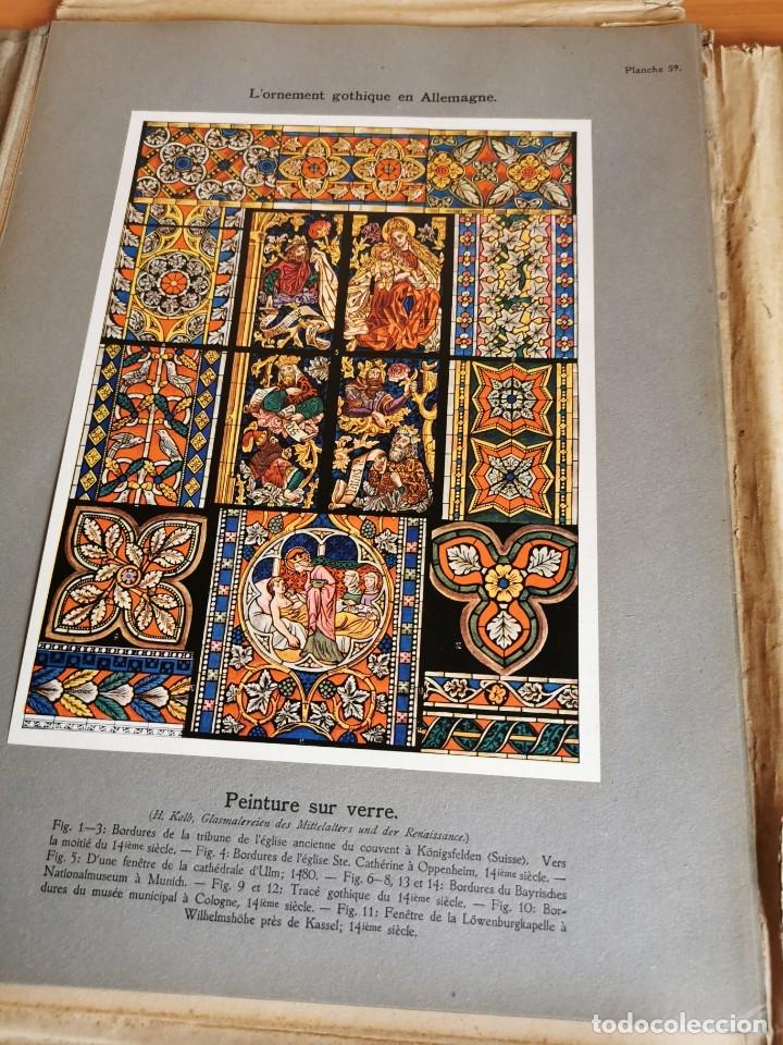 Libros antiguos: 60 LÁMINAS POLICROMADAS ALEXANDER SPELTZ LORNEMENT POLYCHROME MOYEN AGE 1915 LEIPZIG - Foto 29 - 181630186