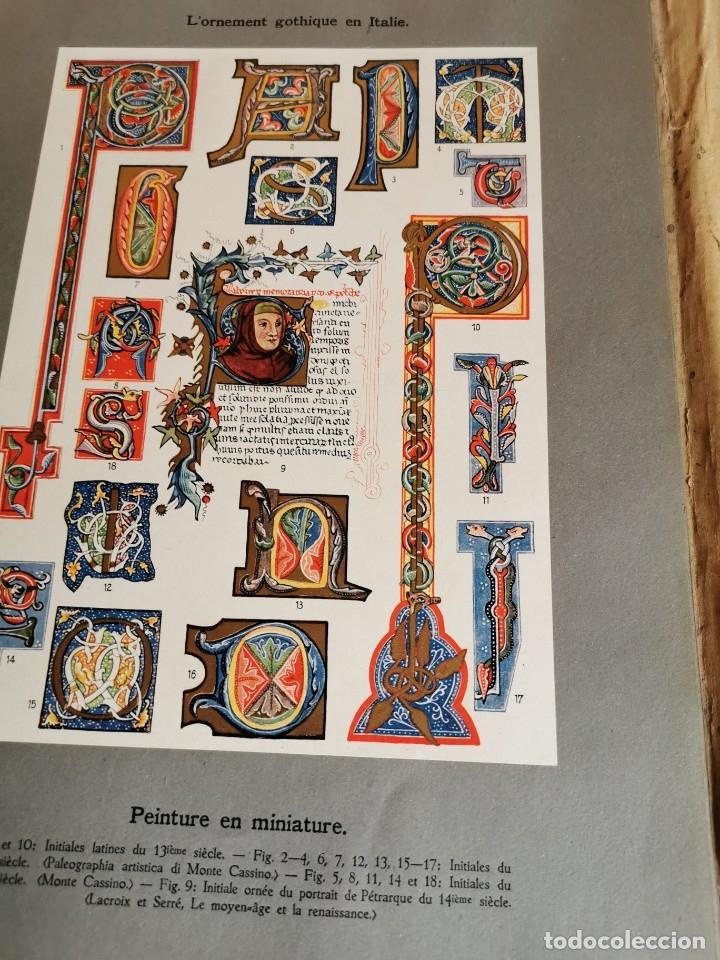 Libros antiguos: 60 LÁMINAS POLICROMADAS ALEXANDER SPELTZ LORNEMENT POLYCHROME MOYEN AGE 1915 LEIPZIG - Foto 27 - 181630186