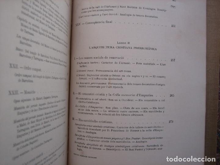Libros antiguos: L'ARQUITECTURA ROMANICA A CATALUNYA – PUIG Y CADAFALCH, ANTONI DE FALGUERA, GODAY Y CASALS – 1909 - Foto 13 - 182428827