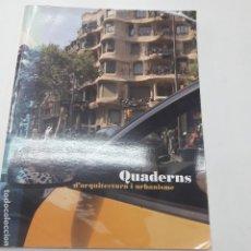 Libros antiguos: QUADERNS D´ARQUITECTURA I URBANISME . Lote 182972167