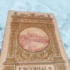 Libros antiguos: LIBRO EL ARTE EN ESPAÑA, ESCORIAL 1°. COLECCIÓN THOMAS . Lote 186085383
