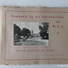 Libros antiguos: CATALOGO COMPAÑIA DE LOS FERROCARRILES MZA NUEVA ESTACION DE TOLEDO AÑO 1919. Lote 186312058