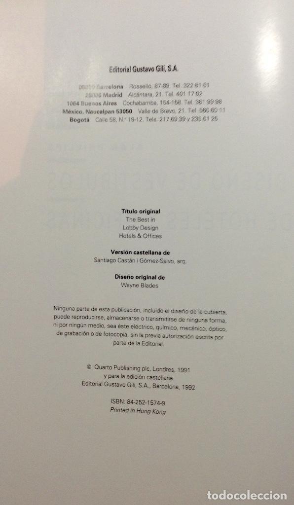 Libros antiguos: DISEŃO DE VESTIBULOS Y OFICINAS. ALAN PHILLIPS. 1992 - Foto 3 - 187391043