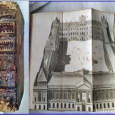 Libros antiguos: AÑO 1725: DESCRIPCIÓN DE LA VILLA DE PARÍS. ILUSTRACIONES DESPLEGABLES DEL SIGLO XVIII.. Lote 189081796