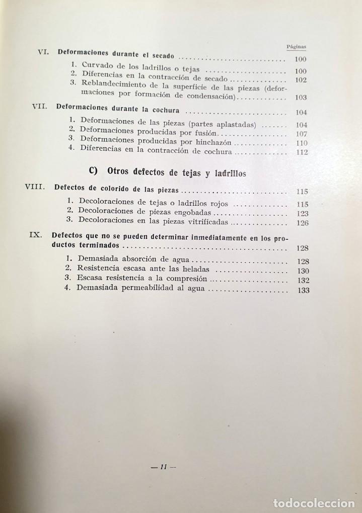 Libros antiguos: Defectos en la fabricación de ladrillos y tejas. Spingler, Karl. Edl: Reverté, Barcelona 1954, 1 edi - Foto 6 - 92166335