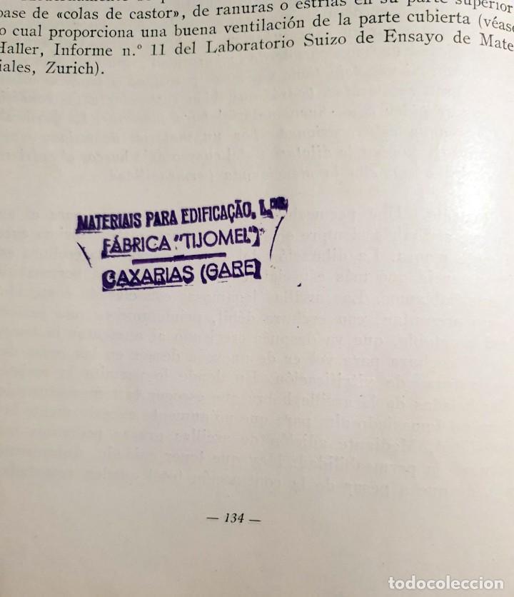 Libros antiguos: Defectos en la fabricación de ladrillos y tejas. Spingler, Karl. Edl: Reverté, Barcelona 1954, 1 edi - Foto 7 - 92166335