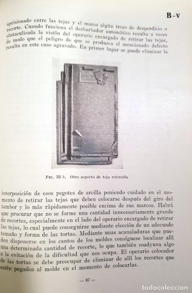 Libros antiguos: Defectos en la fabricación de ladrillos y tejas. Spingler, Karl. Edl: Reverté, Barcelona 1954, 1 edi - Foto 8 - 92166335