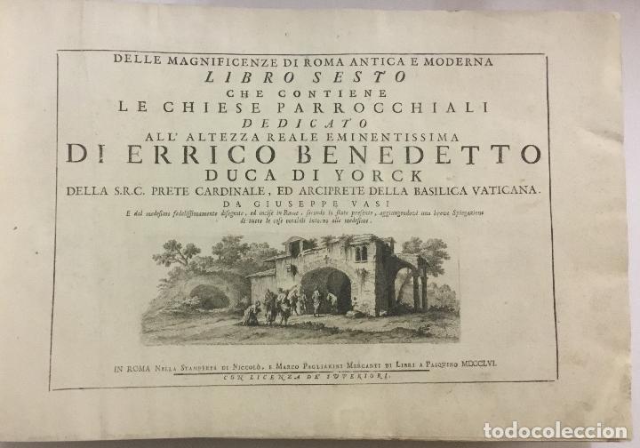 DELLE MAGNIFICENZE DI ROMA ANTICA E MODERNA. VEDUTE DI ROMA. 1756-1761. + DE 100 GRABADOS (Libros Antiguos, Raros y Curiosos - Bellas artes, ocio y coleccion - Arquitectura)