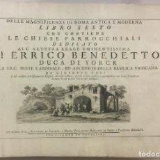 Libros antiguos: DELLE MAGNIFICENZE DI ROMA ANTICA E MODERNA. VEDUTE DI ROMA. 1756-1761. + DE 100 GRABADOS. Lote 191725821