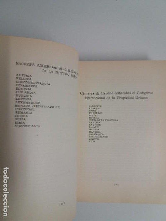 Libros antiguos: DECORATIVO CONGRESO INTERNACIONAL de la PROPIEDAD URBANA Barcelona 1925 - Foto 5 - 191874172
