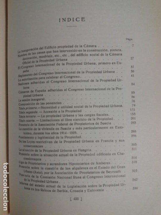 Libros antiguos: DECORATIVO CONGRESO INTERNACIONAL de la PROPIEDAD URBANA Barcelona 1925 - Foto 26 - 191874172