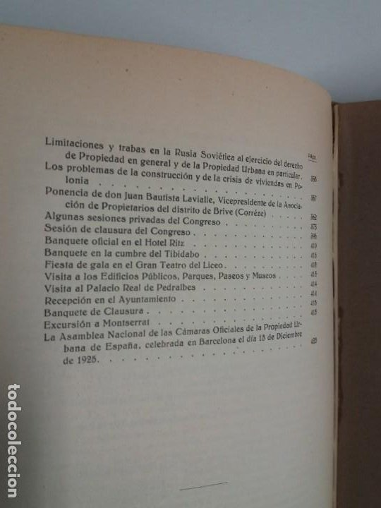 Libros antiguos: DECORATIVO CONGRESO INTERNACIONAL de la PROPIEDAD URBANA Barcelona 1925 - Foto 27 - 191874172