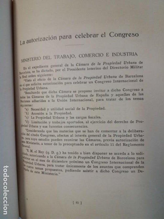Libros antiguos: DECORATIVO CONGRESO INTERNACIONAL de la PROPIEDAD URBANA Barcelona 1925 - Foto 34 - 191874172