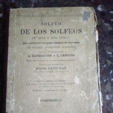 Libros antiguos: ANTIGUO LIBRO SOLFEO. Lote 192072100